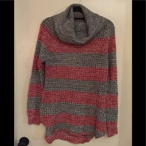 Never worn red, gray and white knit sweater!